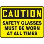 "Accuform MPPE798XV10, 7″ x 10″ OSHA Safety Sign ""Safety Glasses …"""