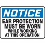 """Accuform MPPE805XF10, 10″ x 14″ OSHA Safety Sign """"Ear Protection …"""""""