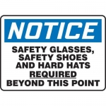 "Accuform MPPE829VS10, 10″ x 14″ OSHA Safety Sign ""Safety Glasses"""