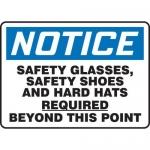 "Accuform MPPE829XV10, 10″ x 14″ OSHA Safety Sign ""Safety Glasses"""
