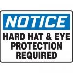 "Accuform MPPE833XP10, 10″ x 14″ OSHA Safety Sign ""Hard Hat …"""