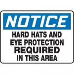 """Accuform MPPE847XP10, 10″ x 14″ OSHA Safety Sign """"Hard Hats And …"""""""