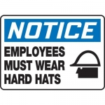 """Accuform MPPE848XP10, 10″ x 14″ OSHA Safety Sign """"Employees Must …"""""""
