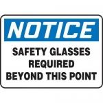 "Accuform MPPE849VS10, 7″ x 10″ OSHA Safety Sign ""Safety Glasses …"""