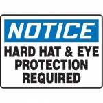 "Accuform MPPE859XP10, 7″ x 10″ OSHA Safety Sign ""Hard Hat & Eye …"""