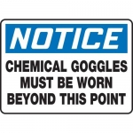 """Accuform MPPE862XF10, 10″ x 14″ Safety Sign """"Chemical Goggles …"""""""