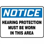 """Accuform MPPE865XL10, 14″ x 20″ Safety Sign """"Hearing Protection …"""""""