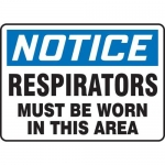 """Accuform MPPE868VS10, 7″ x 10″ OSHA Safety Sign """"Respirators Must …"""""""