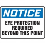 "Accuform MPPE870XF, 7″ x 10″ OSHA Safety Sign ""Eye Protection …"""
