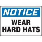 """Accuform MPPE876XP, 7″ x 10″ OSHA Safety Sign """"Wear Hard Hats"""""""
