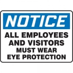 "Accuform MPPE877XF, 7″ x 10″ OSHA Safety Sign ""All Employees …"""