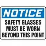 """Accuform MPPE882XL, 7″ x 10″ OSHA Safety Sign """"Safety Glasses …"""""""