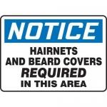 "Accuform MPPE890XL, 7″ x 10″ OSHA Safety Sign ""Hairnets …"""