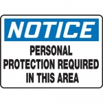 """Accuform MPPE891XL, 7″ x 10″ Safety Sign """"Personal Protection …"""""""