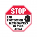 """Accuform MPPE900XF10, 12″ x 12″ Stop Safety Sign """"Ear Protection …"""""""