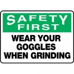 """Accuform MPPE902XF10, 10″ x 14″ Safety Sign """"Wear Your Goggles …"""""""