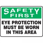 "Accuform MPPE907XF, 10″ x 14″ OSHA Safety Sign ""Eye Protection …"""