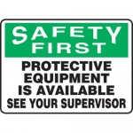 "Accuform MPPE909XF, 10″ x 14″ Safety Sign ""Protective Equipment …"""