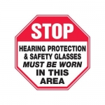 """Accuform MPPE910XF10, 12″ x 12″ Safety Sign """"Hearing Protection …"""""""