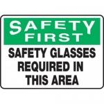 "Accuform MPPE916VS10, 10″ x 14″ OSHA Safety Sign ""Safety Glasses …"""
