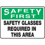 "Accuform MPPE916XV, 10″ x 14″ OSHA Safety Sign ""Safety Glasses …"""