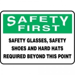 """Accuform MPPE917XL, 7″ x 10″ OSHA Safety Sign """"Safety Glasses"""""""