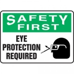 "Accuform MPPE918XF, 10″ x 14″ OSHA Safety Sign ""Eye Protection …"""
