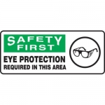 "Accuform MPPE923XF, 7″ x 17″ OSHA Safety Sign ""Eye Protection …"""