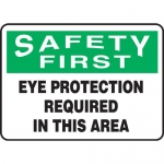 "Accuform MPPE929XF, 7″ x 10″ OSHA Safety Sign ""Eye Protection …"""