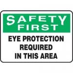 "Accuform MPPE929XL, 7″ x 10″ OSHA Safety Sign ""Eye Protection …"""