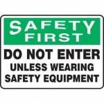 "Accuform MPPE939XF, 7″ x 10″ OSHA Safety Sign ""Do Not Enter …"""