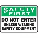 "Accuform MPPE939XL, 7″ x 10″ OSHA Safety Sign ""Do Not Enter …"""
