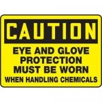 "Accuform MPPE940XP10, 7″ x 10″ OSHA Safety Sign ""Eye And Glove …"""