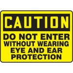 "Accuform MPPE941XF, 7″ x 10″ Safety Sign ""Do Not Enter Without …"""