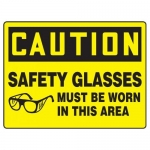 "Accuform MPPG667VS, 10″ x 14″ OSHA Safety Sign ""Safety Glasses …"""