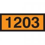 "Accuform MPR603CT, 6.3″ x 15.7″ Orange Placard Sign 4-Digit ""1203"""