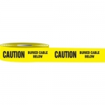 """Accuform MPT42, 3″ x 1000-ft Barricade Tape """"Caution Buried Cable …"""""""