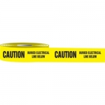 """Accuform MPT43, 3″ x 1000-ft Barricade Tape """"Caution Buried …"""""""