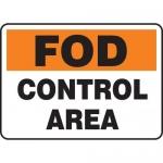 "Accuform MQTL533VP10, 10″ x 14″ FOD Sign ""Control Area"""