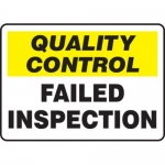 """Accuform MQTL704VS10, 10″ x 14″ Safety Sign """"Quality Control …"""""""