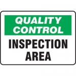 """Accuform MQTL705VS10, 7″ x 10″ Safety Sign """"Quality Control …"""""""