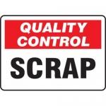 "Accuform MQTL717VP10, 7″ x 10″ Quality Control Safety Sign ""Scrap"""