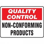 """Accuform MQTL724VS10, 10″ x 14″ Safety Sign """"Non-Conforming Products"""""""