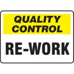 """Accuform MQTL725VS10, 7″ x 10″ Safety Incentive Sign """"Re-Work"""""""