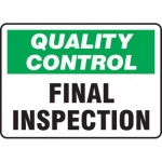 """Accuform MQTL726VS10, 7″ x 10″ Safety Sign """"Final Inspection"""""""