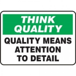 """Accuform MQTL771VS10, 10″ x 14″ Safety Sign """"Quality Means …"""""""