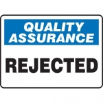 "Accuform MQTL918XT10, 10″ x 14″ Safety Sign ""Rejected"""