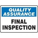 "Accuform MQTL923XT10, 10″ x 14″ Safety Sign ""Final Inspection"""