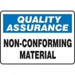 "Accuform MQTL925XT10, 10″ x 14″ Safety Sign ""Non-Conforming Material"""