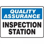 "Accuform MQTL939XT10, 7″ x 10″ Safety Sign ""Inspection Station"""